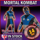 FANCY DRESS COSTUME ~ MENS MORTAL COMBAT SUB-ZERO LG